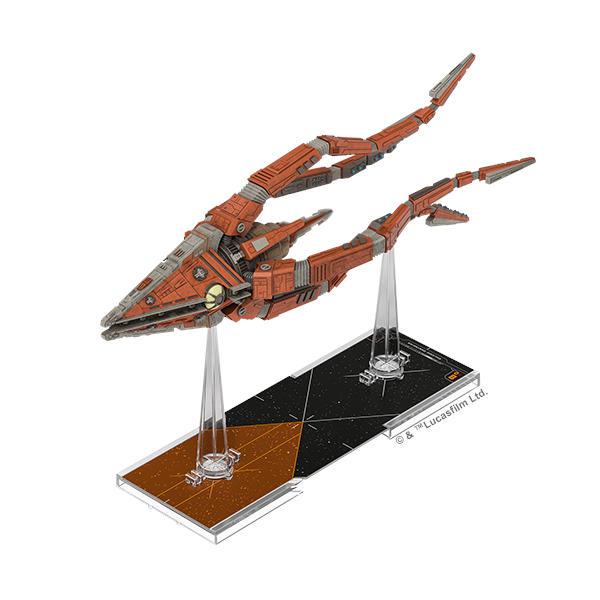Star Wars X Wing 2nd Edition Trident Class Assault Ship miniature.