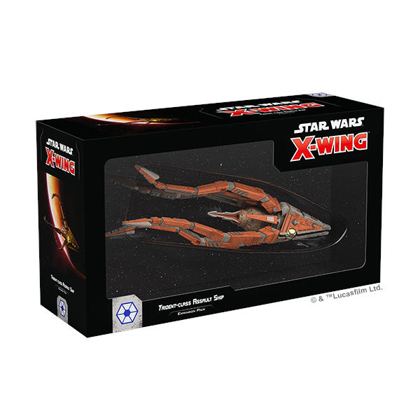 Star Wars X Wing 2nd Edition Trident Class Assault Ship box cover.