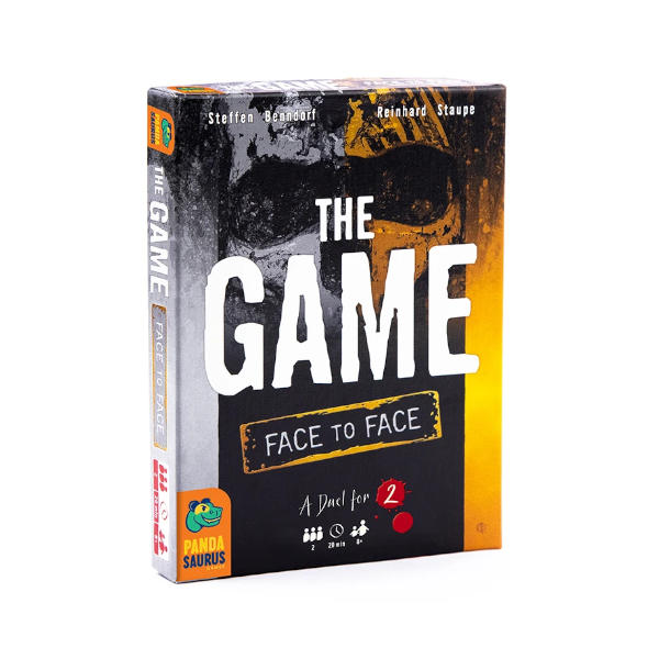 The Game Face to Face Card Game box cover.