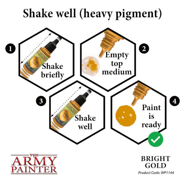 Army Painter Bright Gold Warpaint (Metallic)