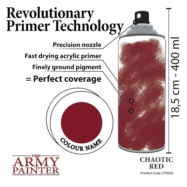 Army Painter Chaotic Red Colour Primer