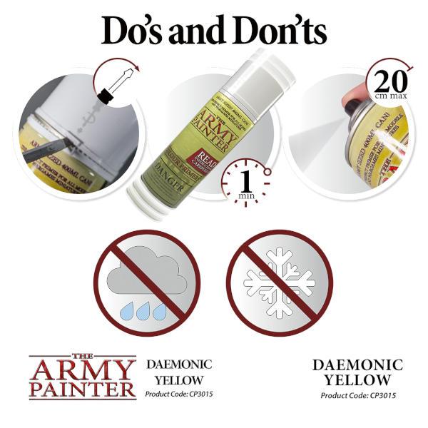 Army Painter Daemonic Yellow Colour Primer