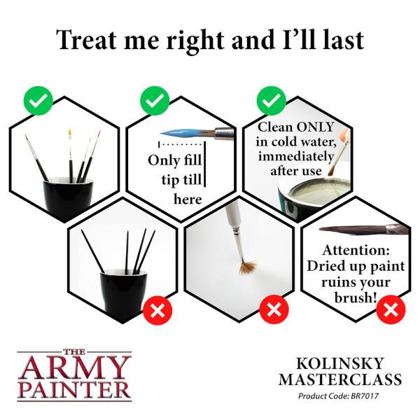 Army Painter Kolinsky Masterclass Brush