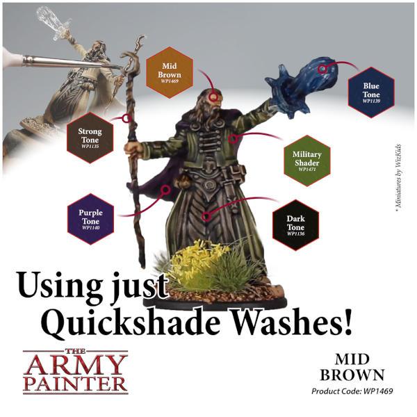 Army Painter Mid Brown Quickshade Wash