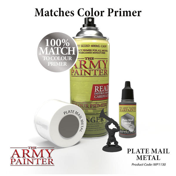 Army Painter Plate Mail Metal Warpaint (Metallic)
