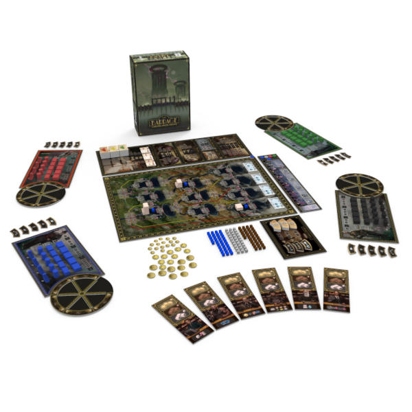 Barrage Board Game box and components.