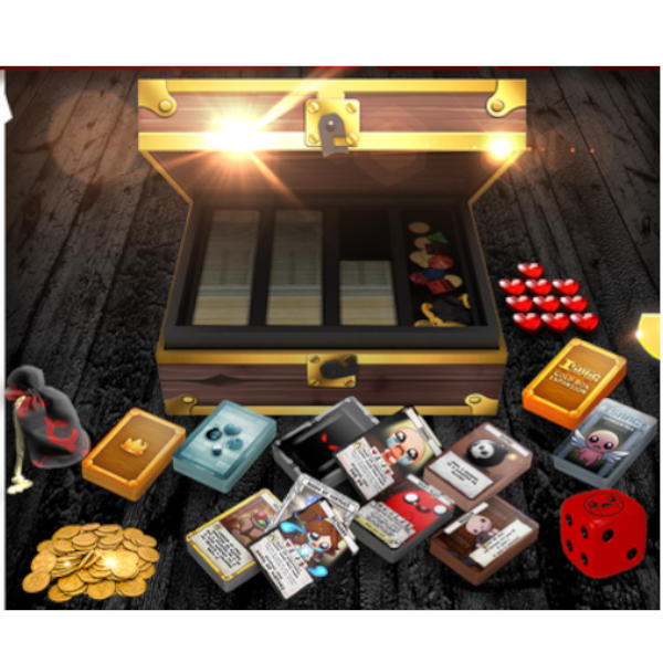 Binding of Isaac Four Souls Requiem Full Collection components and box.