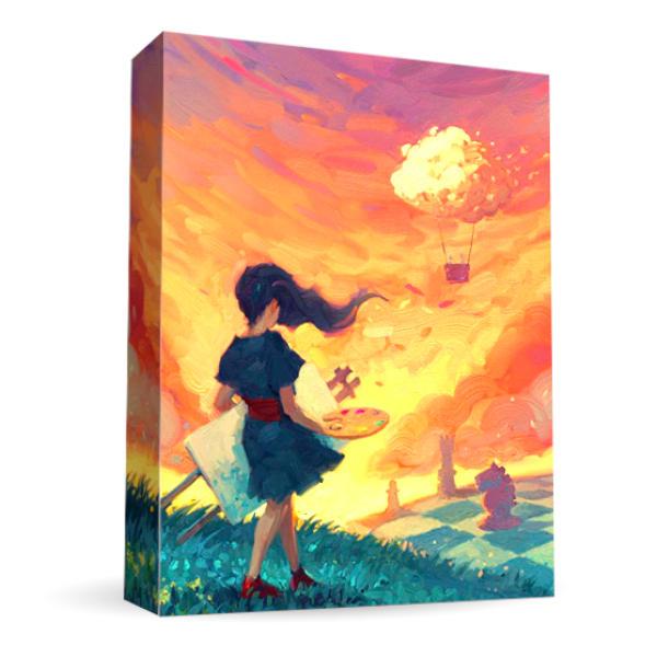 Canvas Board Game box cover.