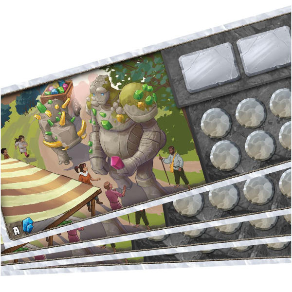 Century Golem an Endless World Board Game components.