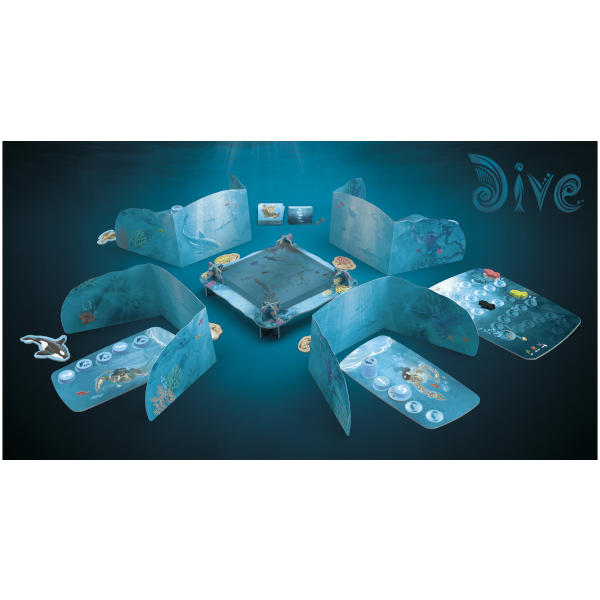Dive Board Game components.