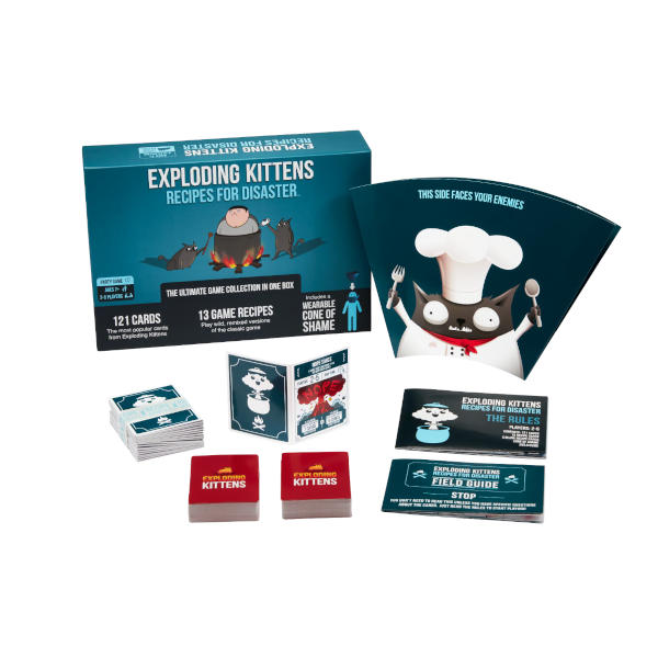 Exploding Minions Recipes for Disaster cards and box.