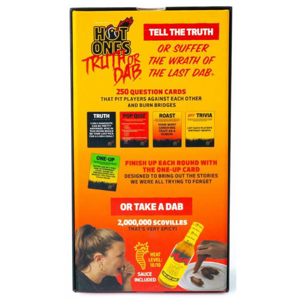 Hot One Truth or Dab the Game back of box.