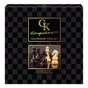 Kasparov Championship Chess Set box cover.