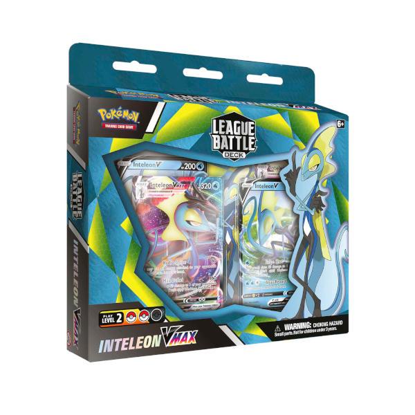 Pokemon Inteleon VMAX League Battle Deck front cover.