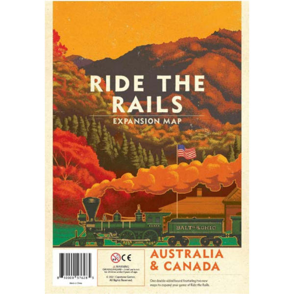 Ride the Rails Australia and Canada Map Expansion box cover.