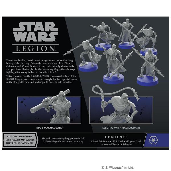 Star Wars Legion IG-100 Magnaguards Unit Expansion back of box.