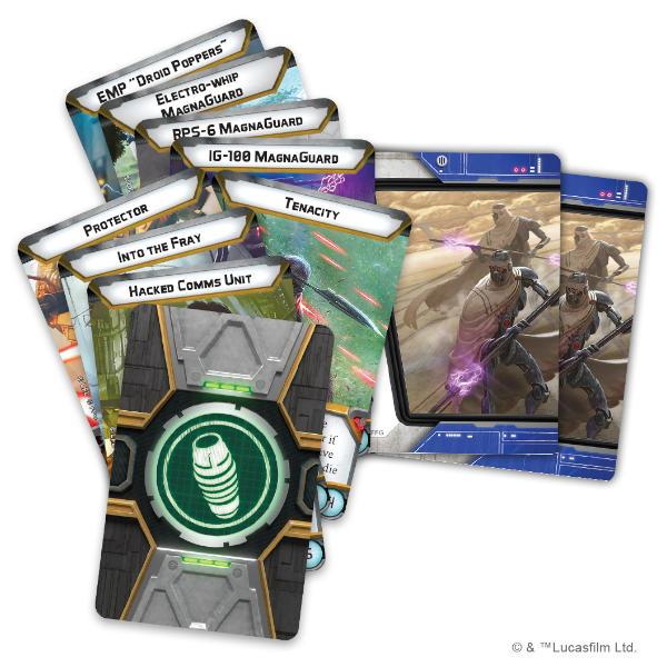 Star Wars Legion IG-100 Magnaguards Unit Expansion cards.