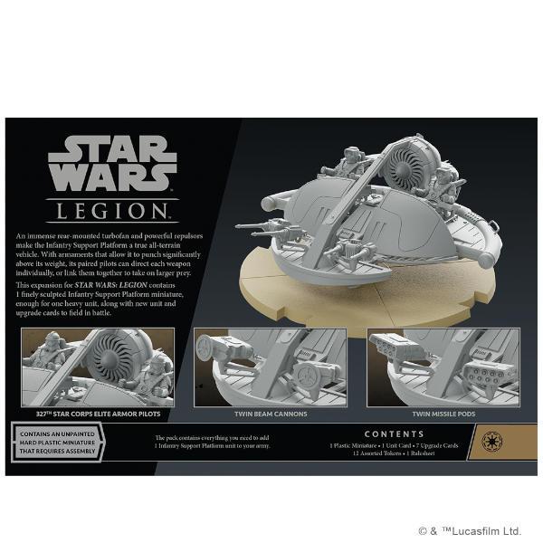 Star Wars Legion Infantry Support Platform Unit Expansion back of box.