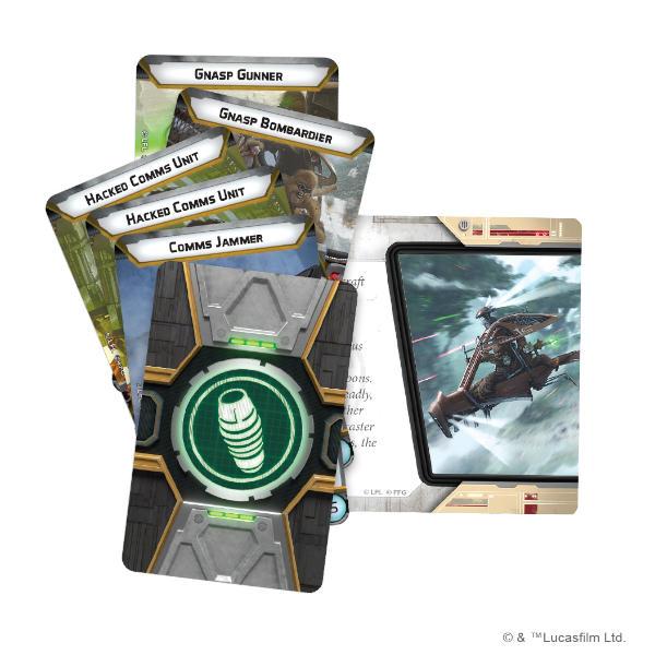 Star Wars Legion Raddaugh Gnasp Fluttercraft Unit Expansion cards.