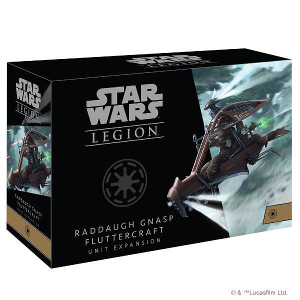 Star Wars Legion Raddaugh Gnasp Fluttercraft Unit Expansion front of box.