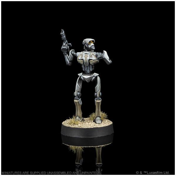 Star Wars Legion Super Tactical Droid Commander Expansion painted miniature.