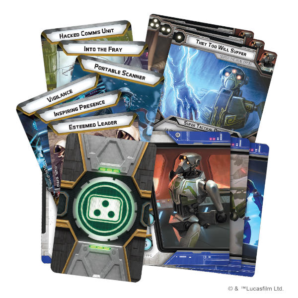 Star Wars Legion Super Tactical Droid Commander Expansion cards.