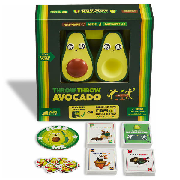 Throw Throw Avocado Game box and components.