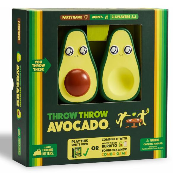 Throw Throw Avocado Game front of box.