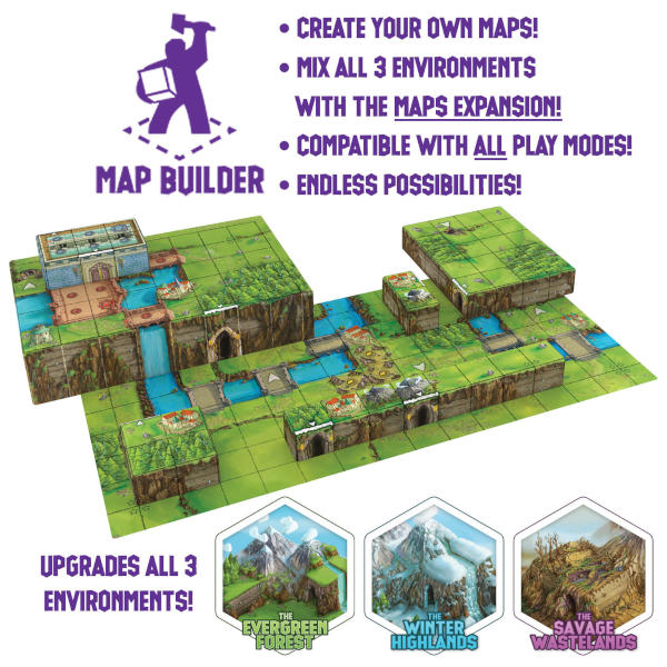 Tiny Epic Tactics Map Expansion components.