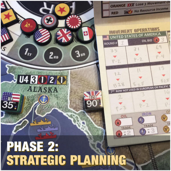 War Room Board Game 2nd Edition components.