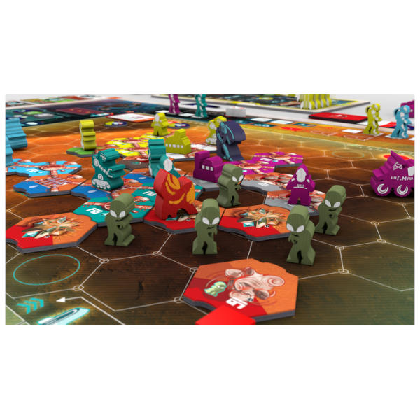 On Mars Alien Invasion Expansion components.