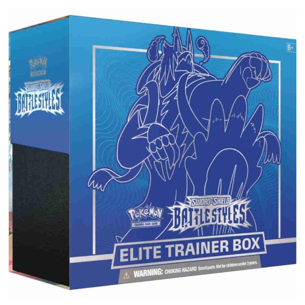 Pokemon TCG Battle Styles Elite Trainer Box Blue.