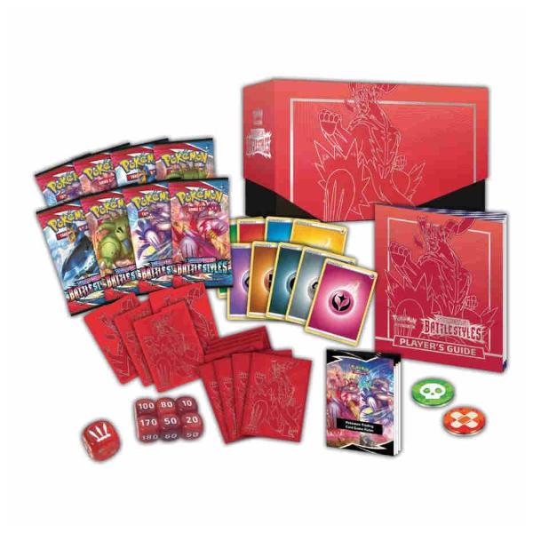 Pokemon TCG Battle Styles Elite Trainer Box Red.