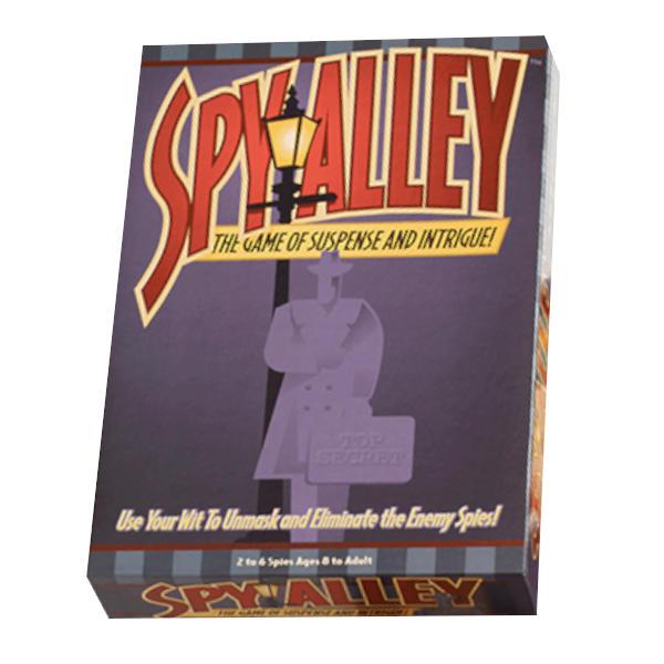 Spy Alley Board Game box cover.