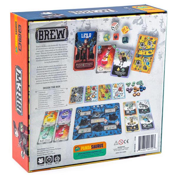 Brew Board Game back of box.