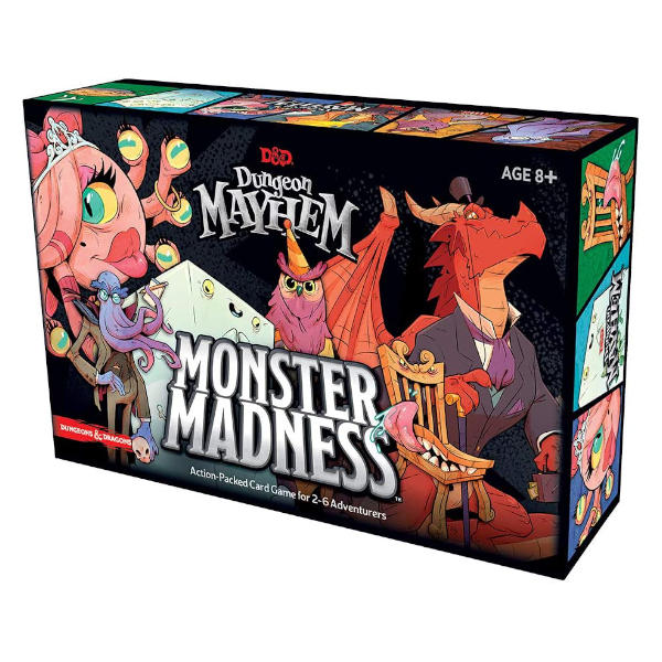 Dungeon Mayhem Monster Madness Deluxe Expansion box cover.