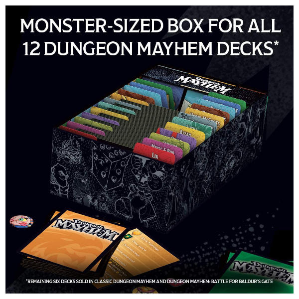 Dungeon Mayhem Monster Madness Deluxe Expansion box internals.