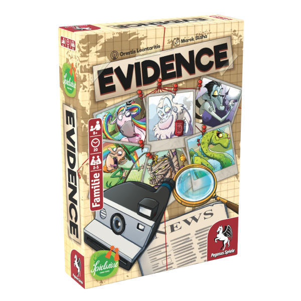 Evidence Board Game front of box.