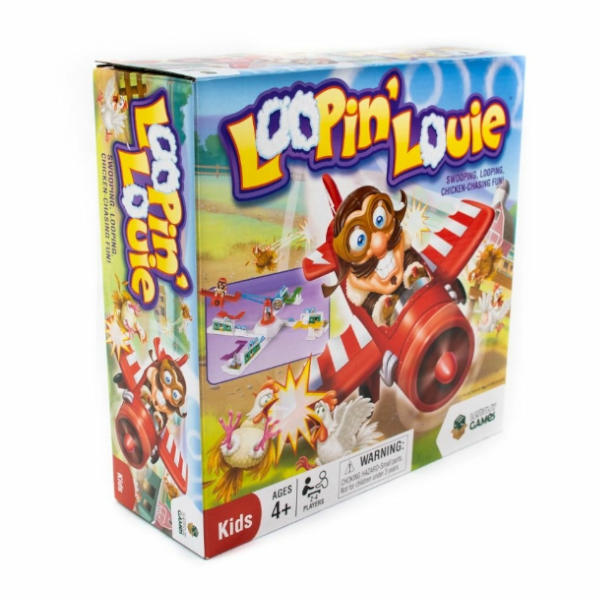 Loopin Louie Board Game box front.