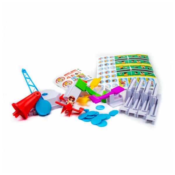 Loopin Louie Board Game components.