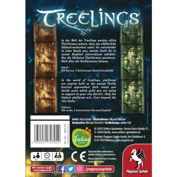 Treelings Board Game back cover.