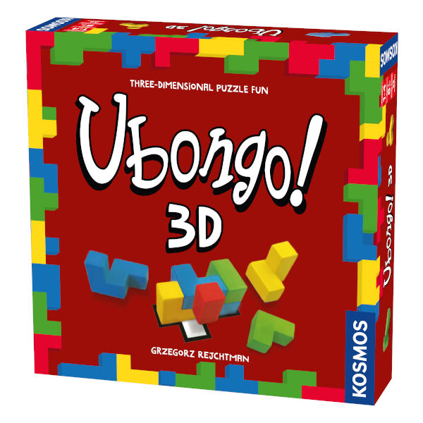 Ubongo 3D Board Game front cover.