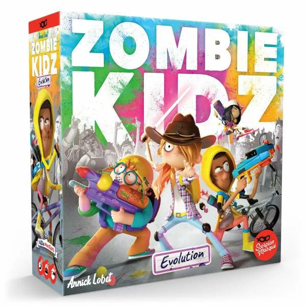 Zombie Kidz Evolution Board Game box cover.