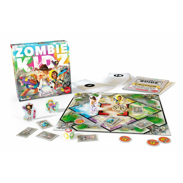 Zombie Kidz Evolution Board Game box cover and components.