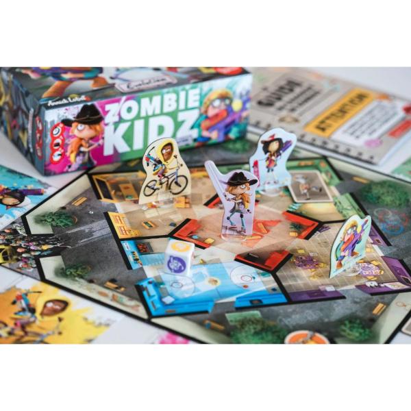 Zombie Kidz Evolution Board Game components.