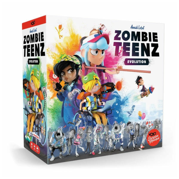 Zombie Teenz Evolution Board Game box cover.